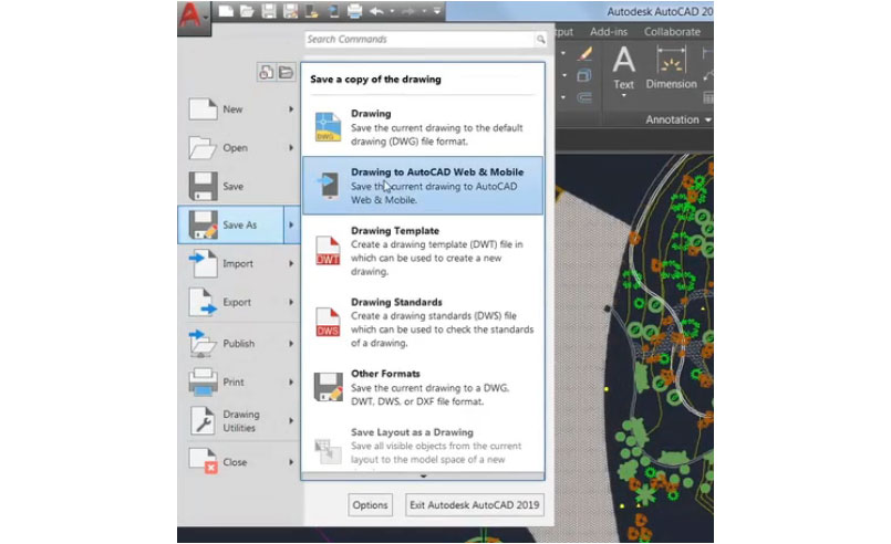 AutoCAD 2020 - Save to web and mobile